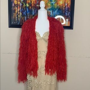 Knit top in red color